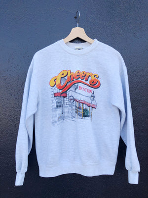 Heather Grey Cheers Boston Sweatshirt - M