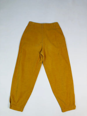 1980's Corduroy Tapered Button-Hem Pants