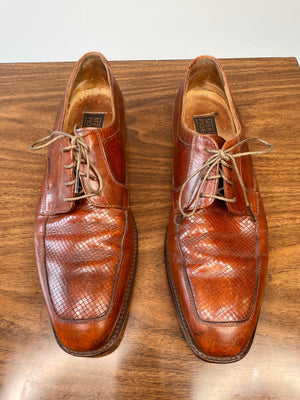 Leather Lace-Up Loafers