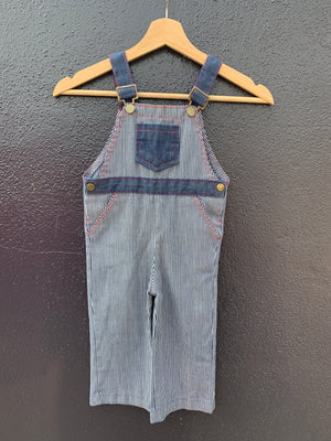 70's Conductor Denim Overalls - 3T