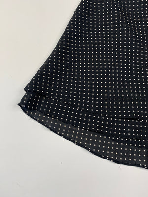 Layered Chiffon Polka Dot Mini Skirt - L
