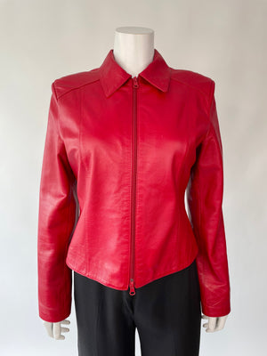 Beautiful Red Leather Jacket