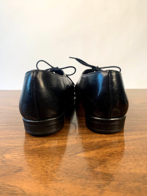 Black Leather Basket Loafers