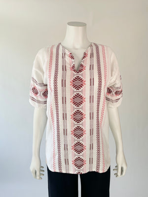 Ivory Guatemalan Embroidery Tunic Top