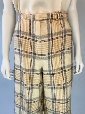 70's Plaid Wool Gauchos