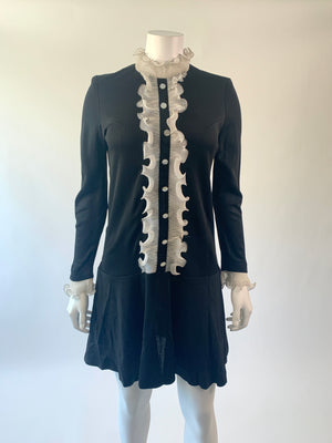 Black & White 1960's Tuxedo Dress