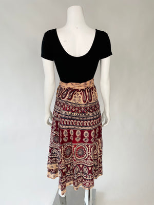 Indian Cotton Wrap Skirt