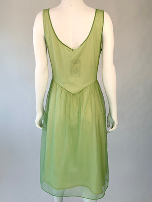 Lovely Green Slip Dress