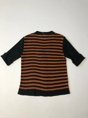 Striped Mid-Century Fitted Cardigan