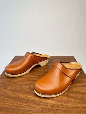 Brown 70's Clogs