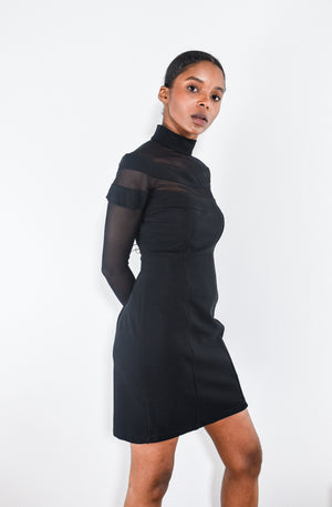 90's Bodycon Mesh Dress