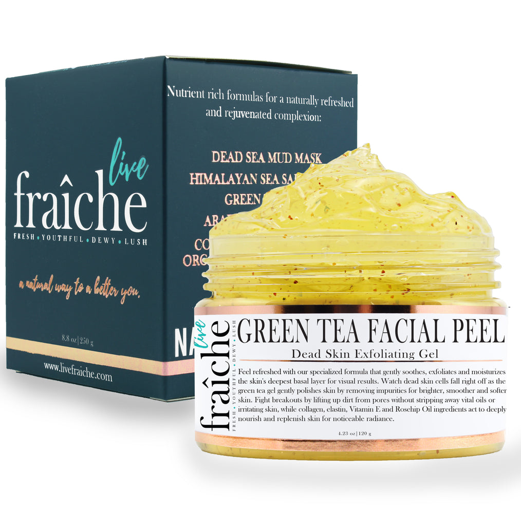 24k Gold Green Tea Facial Peel (Dead Skin Exfoliator & Skin Brightening)