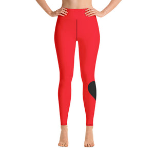 Love Yoga Leggings - Red