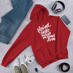 Follow Your Heart Hooded Sweatshirt - RED