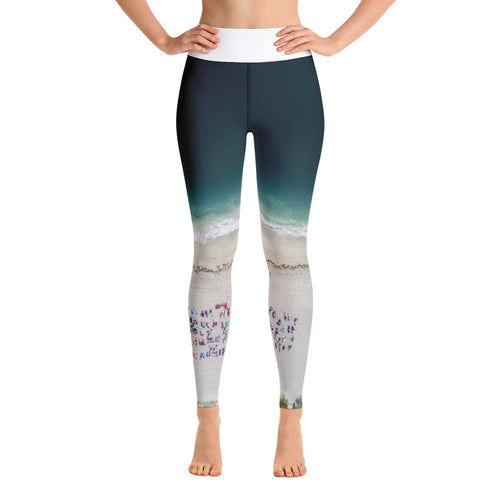 Sand Tribe Aerial View Yoga Leggings