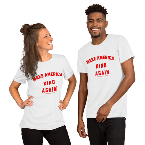 Make America Kind Again #Camp4Kind Unisex T-Shirt - Red