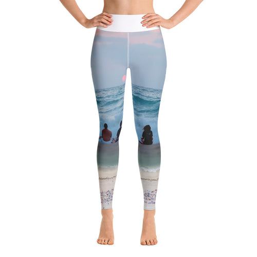 Sunrise Beach Meditation Yoga Leggings