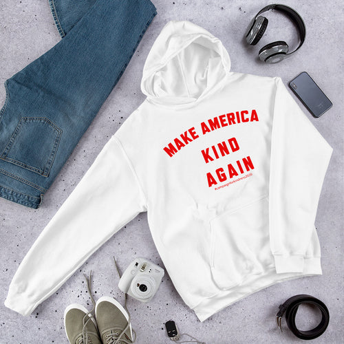 Make America Kind Again #Camp4Kind Unisex Hoodie - Red