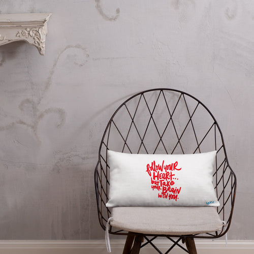 Follow Your Heart Premium Pillow - RED