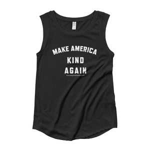 Make America Kind Again #Camp4Kind Ladies' Cap Sleeve Tee