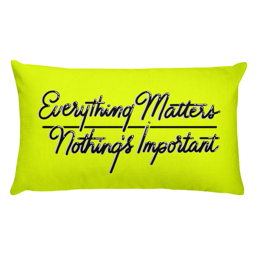 Everything Matters Rectangular Throw Pillow - Yellow