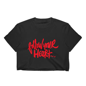Follow Your Heart Women's Crop Top - RED