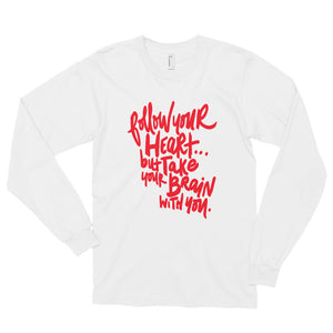 Follow Your Heart Long Sleeve Tee - Red