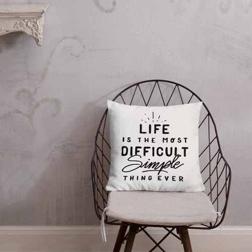 Life Is... Square Throw Pillow - White