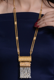 Bahraini manufactured 21kt gold necklace with natural pearls نكلاس تراقي قيراط ٢١ مع لؤلؤ طبيعي