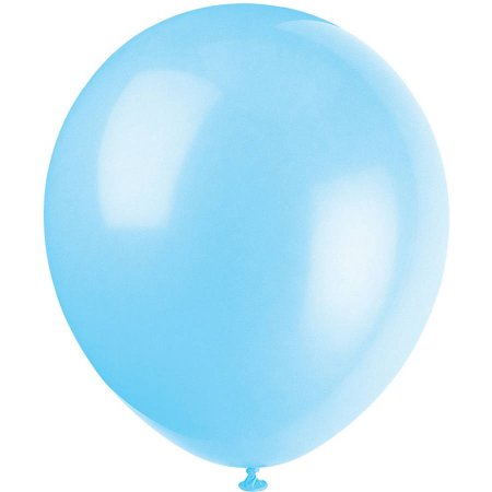Solid Baby Blue Latex Balloon 12' - D'Decorations Flower Shop | Floreria