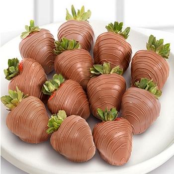 Milk Chocolate Strawberries - D'Decorations Flower Shop | Floreria