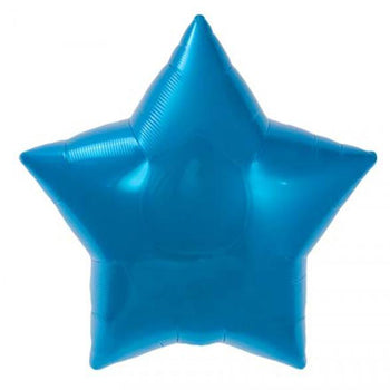22 inch Foil Star w/ Message (Blue)