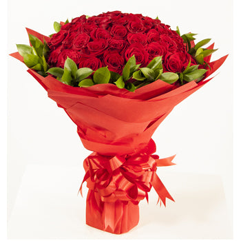 85 Red Roses Bouquet - D'Decorations Flower Shop | Floreria