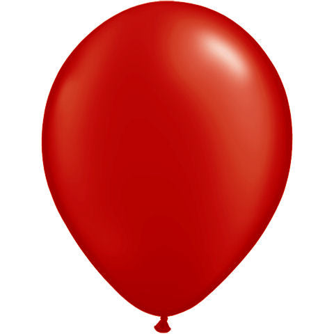 Solid Red Latex Balloon 12' - D'Decorations Flower Shop | Floreria