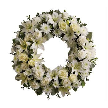 Serenity Wreath - D'Decorations Flower Shop | Floreria