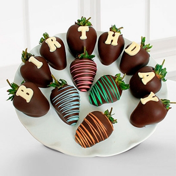 Dark Chocolate Birthday Strawberries - D'Decorations Flower Shop | Floreria