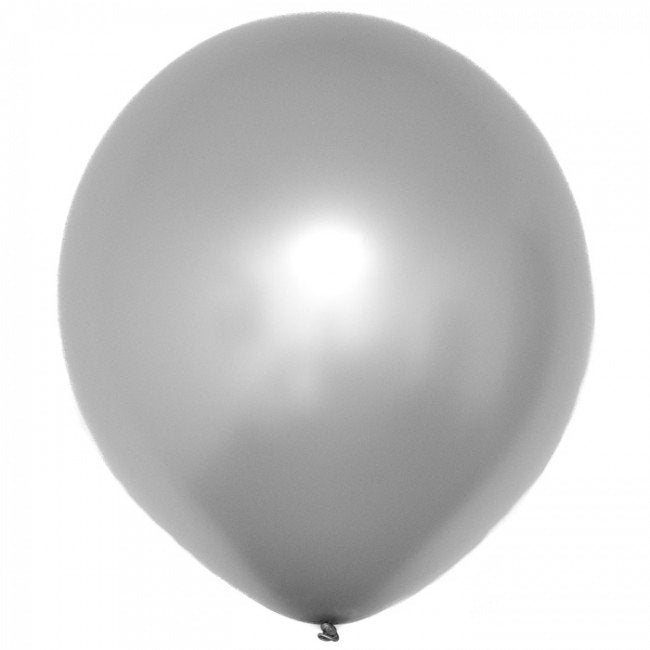 Solid Silver Latex Balloon 12' - D'Decorations Flower Shop | Floreria