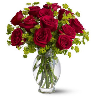 Dozen Sweet Roses - D'Decorations Flower Shop | Floreria