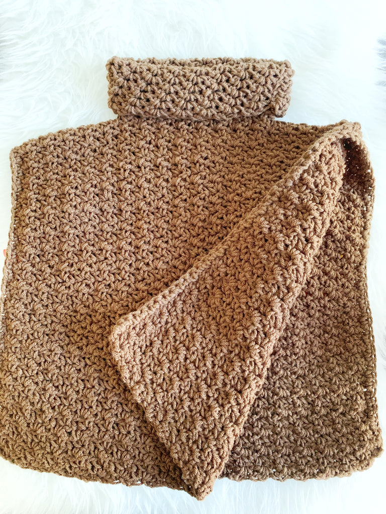 Lakewood Cowl Neck Pullover Poncho