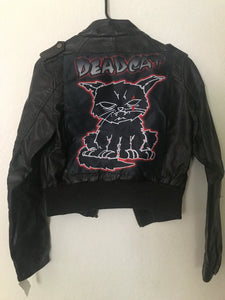 Grumpy Deadcat Faux leather jacket