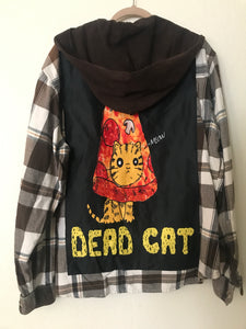 Dead Pizza Cat Flannel