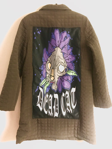 Deadcat lily quilted coat