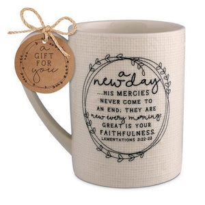 A New Day Bible Verse Coffee Mug