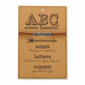 ABC'S Of Faith Silver Christian Bracelet