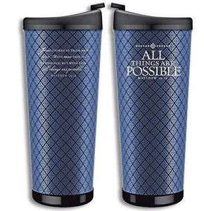 All Things Are Possible Scripture Travel Mug