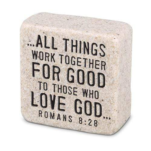 All Things Work Together For Good Scripture Stone