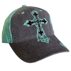 Amazing Grace Christian Hat With Cross