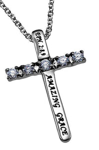 Amazing Grace Cross Necklace