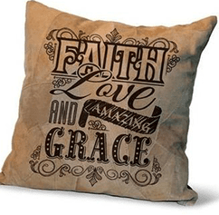 Amazing Grace Leather Pillow