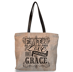 Amazing Grace Leather Tote Bag